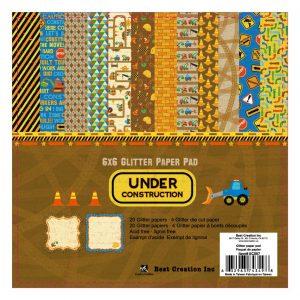 """UC007 6x6"""" Glitter Paper Pad"""
